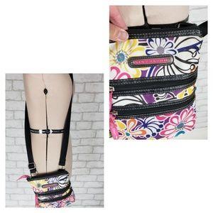 Lily Bloom Floral Crossbody Hipster Bag Adjustable